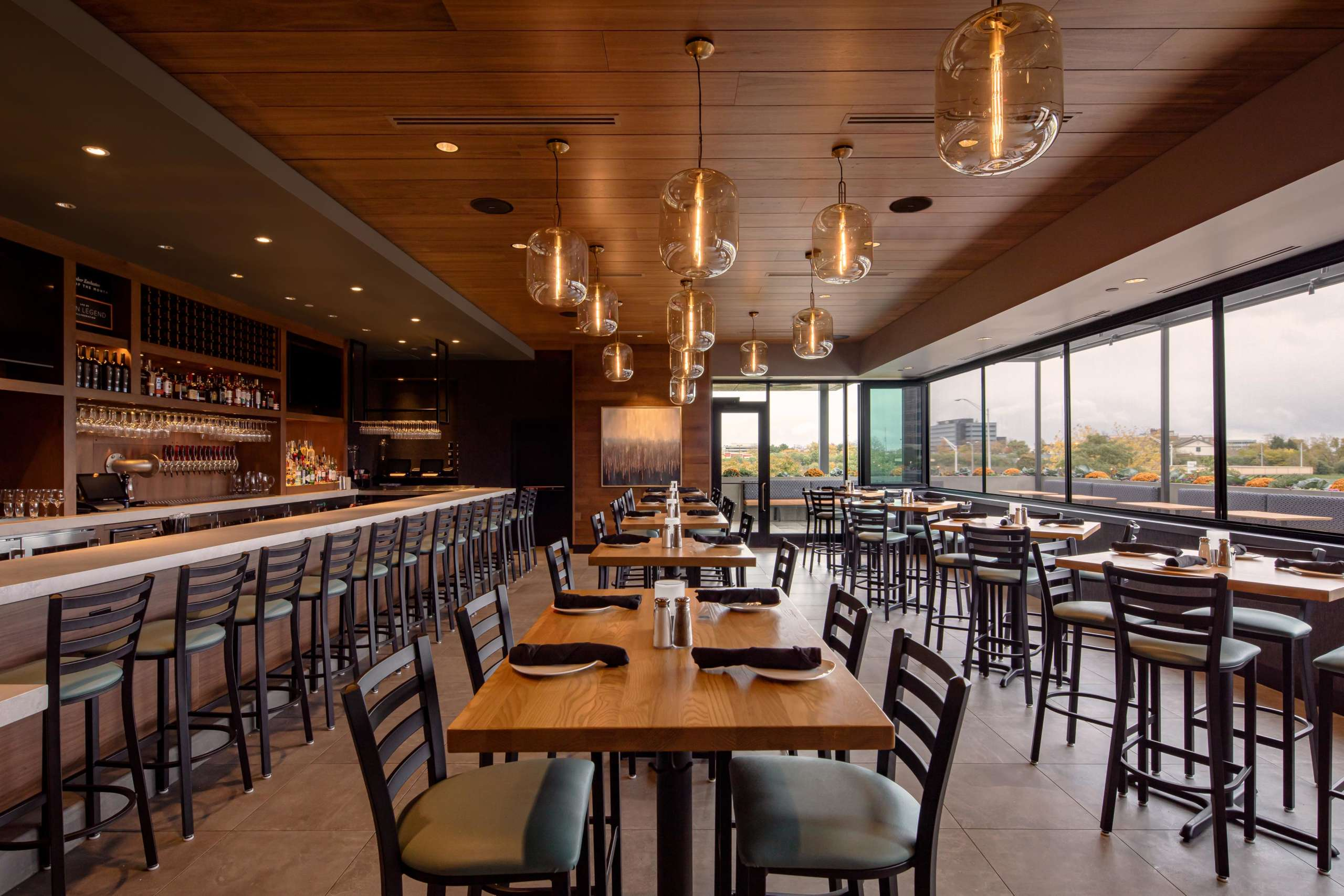 SoundPly Planks in dining area, Cooper's Hawk IL