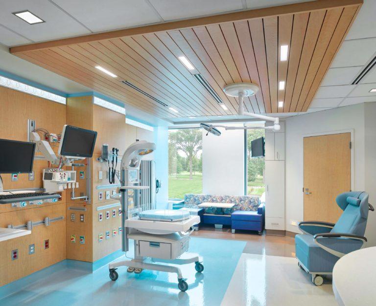 Hospital-NICU-ExamRoom-SoundPly-Lino-Acoustic-Timber-Wood-Planks